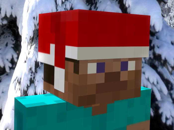 Minecraft Christmas Steve (700x525, 163Kb)