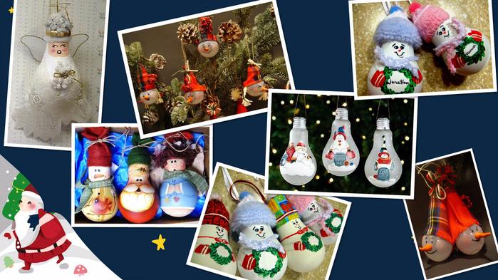 Новогоднии-игрушки-из-лампочки (700x393, 373Kb)