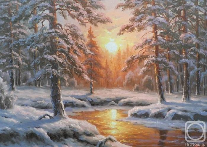 Ильин Максим. Зимнее солнце (700x496, 281Kb)