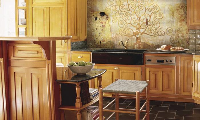 декоративная мозаика в интерьере 6 (700x420, 347Kb)