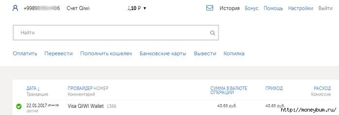 Выплата 43.65 рубля с проекта Такси от Юли/3324669_qiwi (700x237, 54Kb)