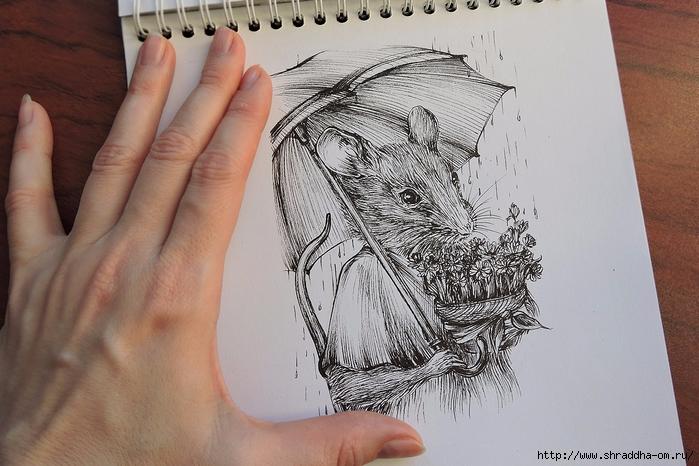 Сюрприз в корзинке Мышь от Shraddha (2) (700x466, 269Kb)