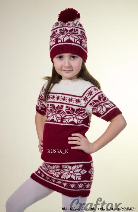 tunic-and-hat-set-free-jacquard-knitting-pattern (457x700, 190Kb)
