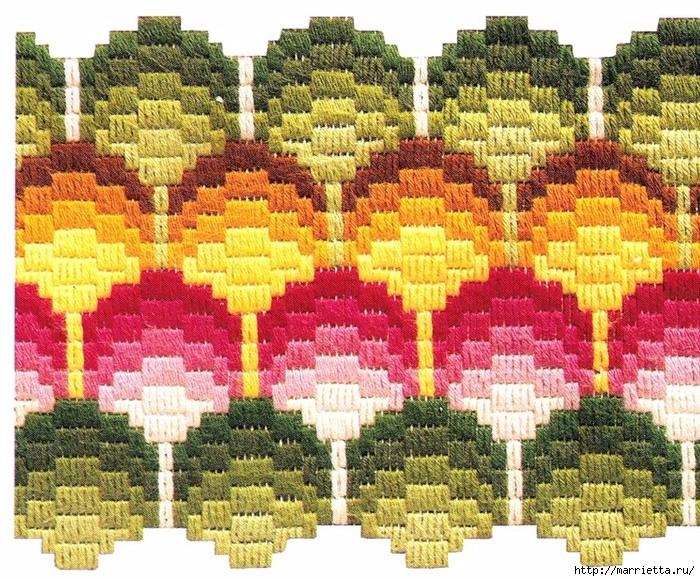 Очень красивая вышивка в технике БАРДЖЕЛЛО (4) (700x581, 449Kb)