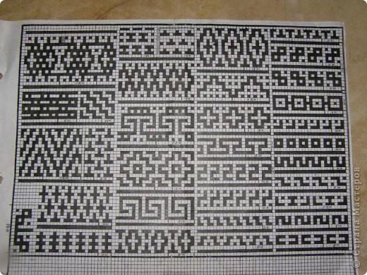 Вязание ленивых жаккардовых узоров схемы 206