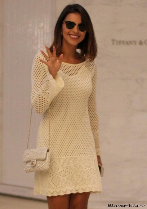 Белое платье спицами. Ищу схему (1) (474x674, 160Kb)