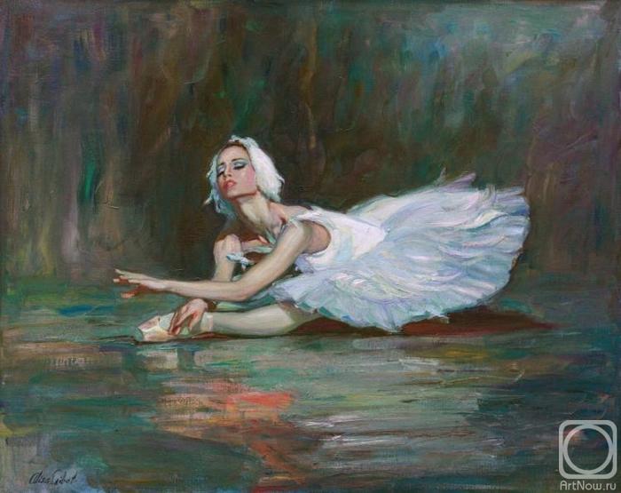 Гибет Алиса. Девушка-лебедь (балет Лебединое озеро) (700x555, 248Kb)