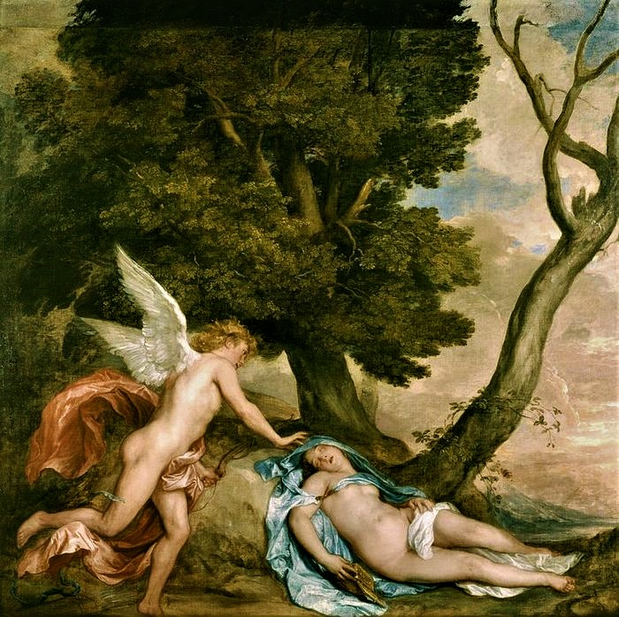 Антонис ван Дейк   Амур и Психея    1638 (700x698, 208Kb)