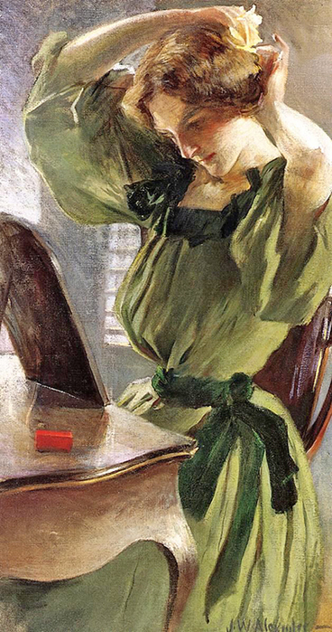 John White Alexander — Young Woman Arranging Her Hair копия (368x700, 298Kb)