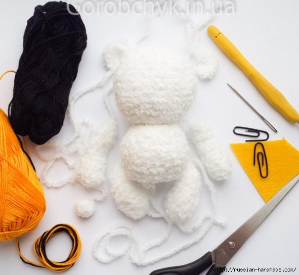 Вязание крючком плюшевого медвежонка. Описание (6) (605x555, 152Kb)