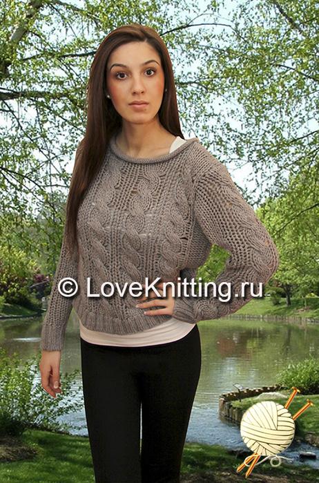 04 Автор Пуловер крупной вязки МТ2 (462x700, 435Kb)