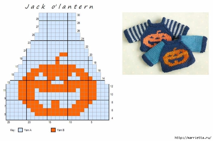 Вязание спицами свитеров для кукол. Схемы (2) (700x464, 153Kb)