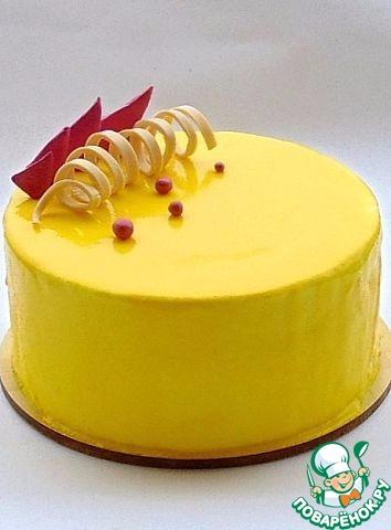 Лимонная глазурь для торта