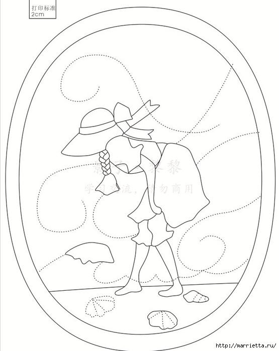 Лоскутный квилт. Панно «Дамы» (2) (555x700, 151Kb)