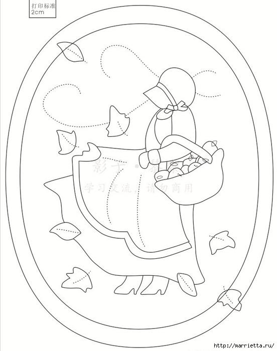 Лоскутный квилт. Панно «Дамы» (4) (552x700, 150Kb)
