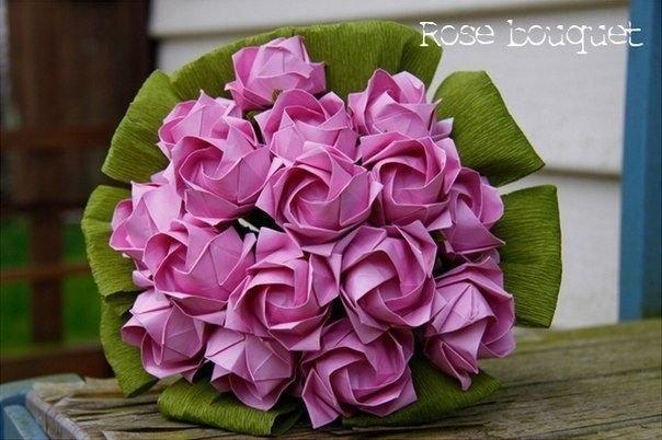 Как делать букет из роз своими руками