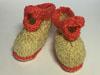 Пинетки-«ботиночки» из натуральной шерсти ручной работы
