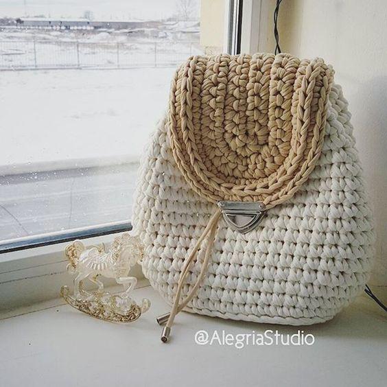 简单的针织布条的钩包 - maomao - 我随心动