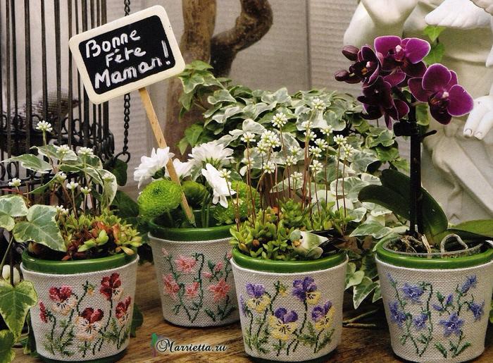 Цветы и цветочные феи для декора цветочных горшков. Вышивка1 (700x515, 592Kb)