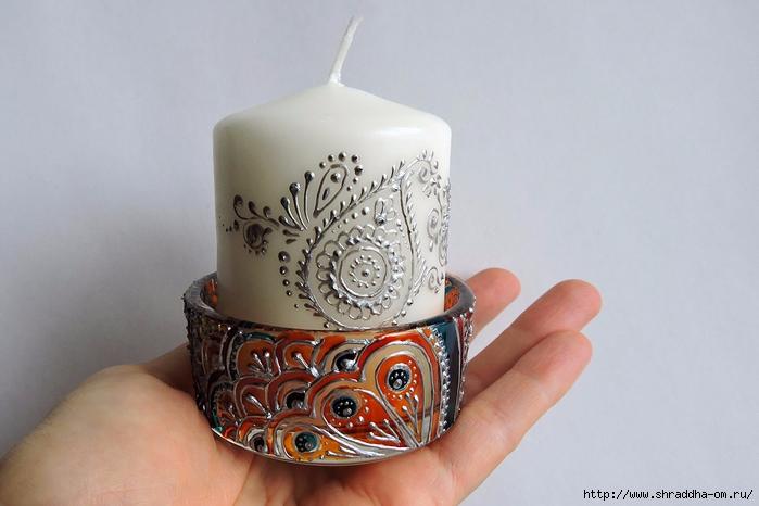 подсвечник со свечой от Shraddha (1) (700x466, 201Kb)