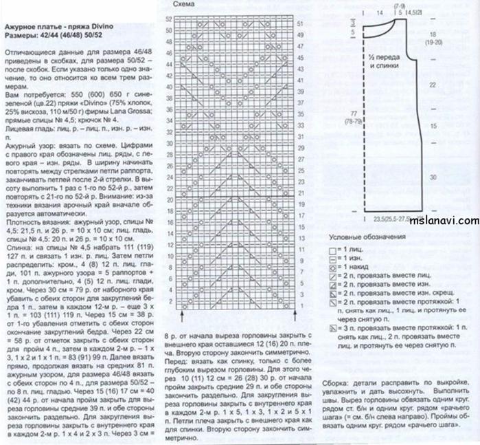 Opisanie-vyazaniya-azhurnogo-platya-spitsami (700x647, 460Kb)