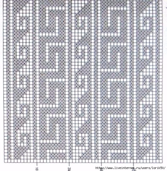 Греческие узоры для вязания