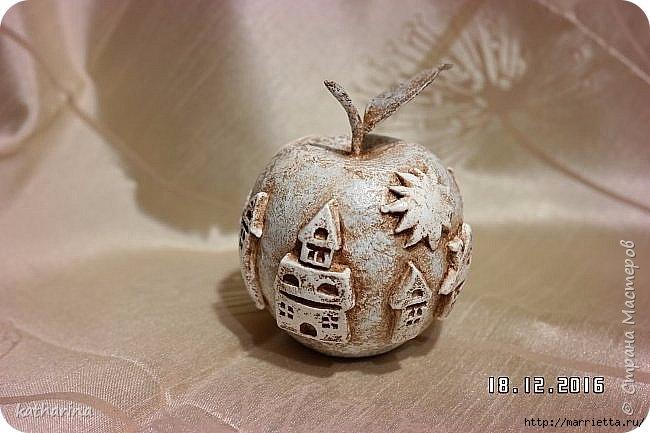 Яблочки из папье-маше. Мастер-класс (6) (650x433, 152Kb)
