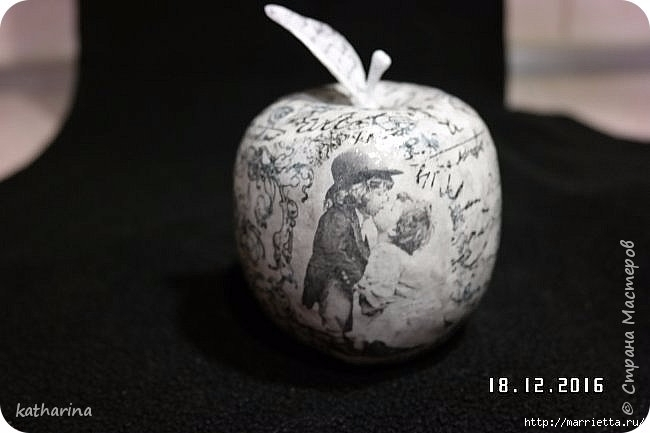 Яблочки из папье-маше. Мастер-класс (8) (650x433, 96Kb)