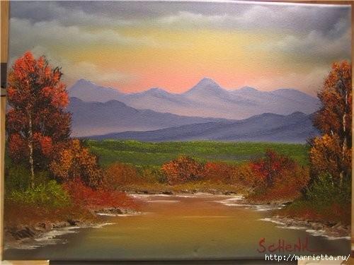 Как рисовать масляными красками по технике Бобa Росса (4) (500x375, 116Kb)