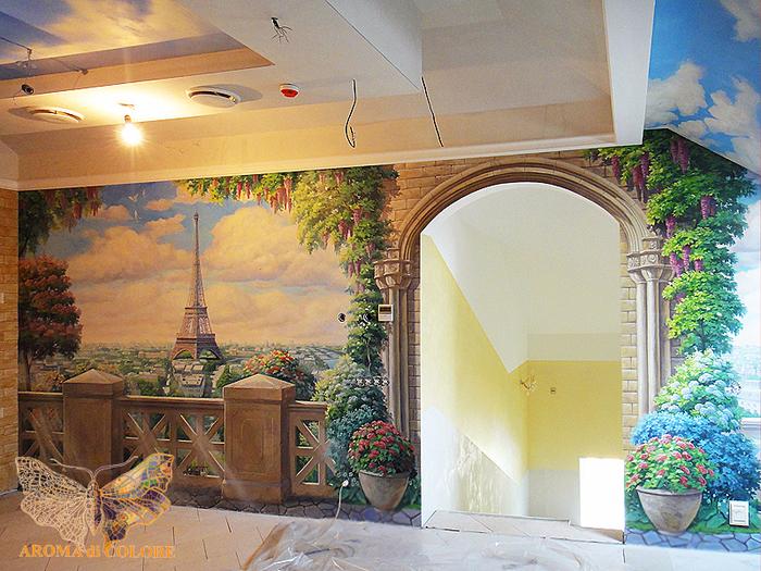 роспись стен в интерьере фото 1 (700x525, 592Kb)