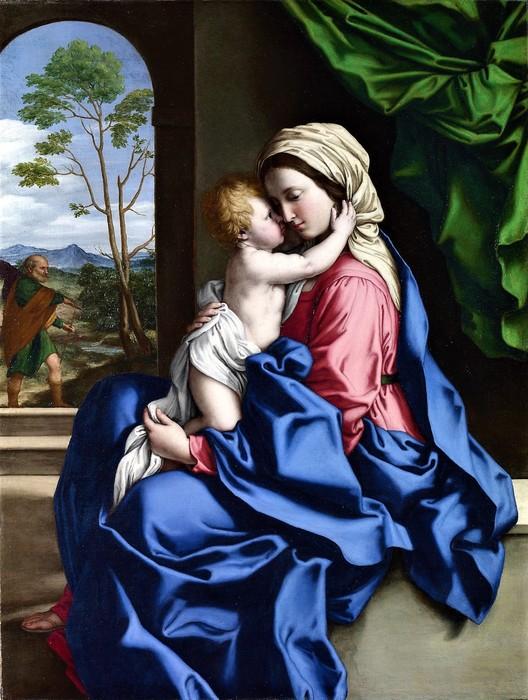 Мадонна с младенцем    1660-1685   (The Virgin and Child Embracing)   97.2 х 74   Лондон, Национальная галерея (528x700, 114Kb)
