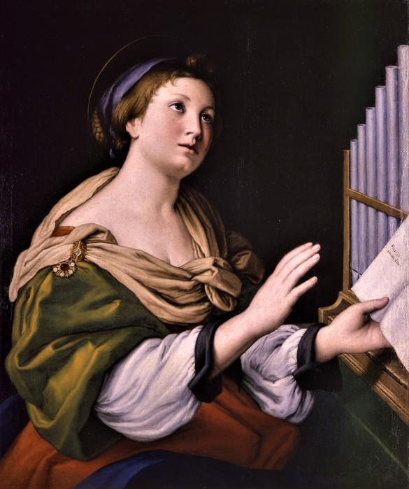 Святая Цецилия (Saint Cecilia)   1635-1650   73.8 х 62.2  х.,м.   Милан, Музей Польди-Пеццоли (585x700, 93Kb)