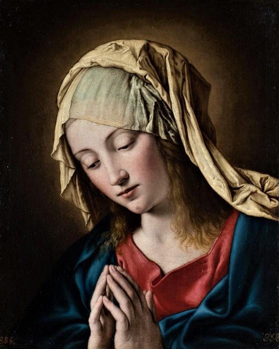 Молящаяся Мадонна (The Madonna in Prayer),   48 x 40  х.,м,   Мадрид, Музей Прадо (560x700, 102Kb)