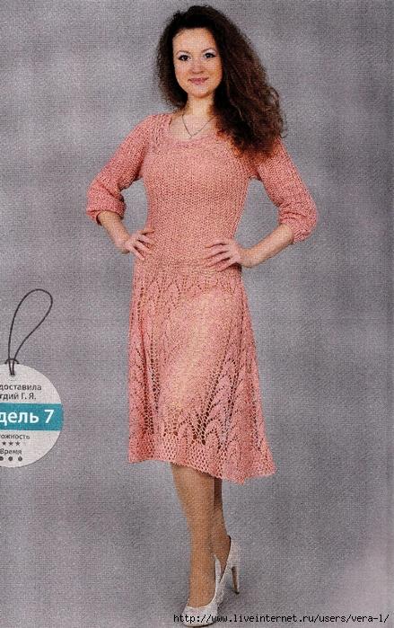 Трикотажные платья с кокеткой