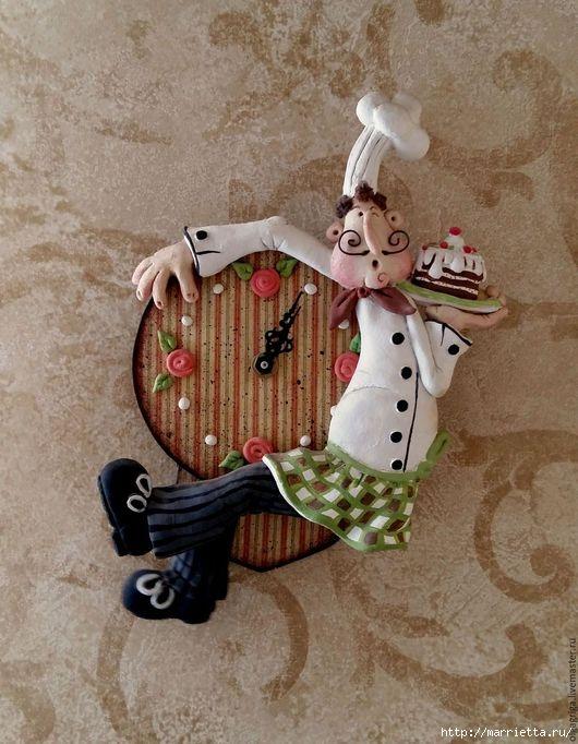 Часы «Веселый повар» из соленого теста. Мастер-класс (1) (530x682, 208Kb)