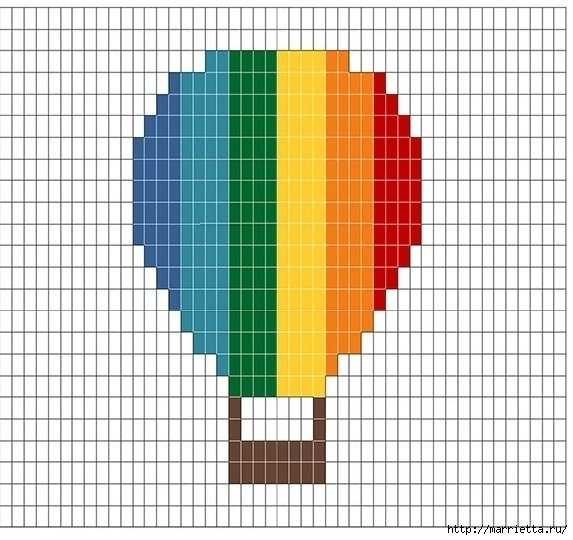 Крючком. Детский плед с морем, парусниками и воздушными шарами (12) (573x540, 176Kb)