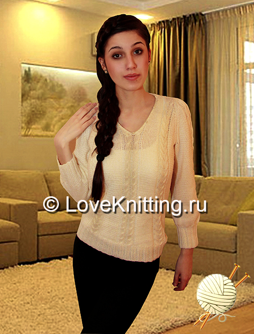 06 Автор Пуловер с бусинами_2 МТ2 (500x655, 302Kb)