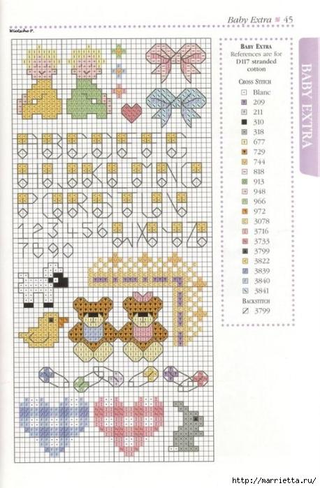 Детская вышивка крестом. Схемы (3) (458x700, 246Kb)