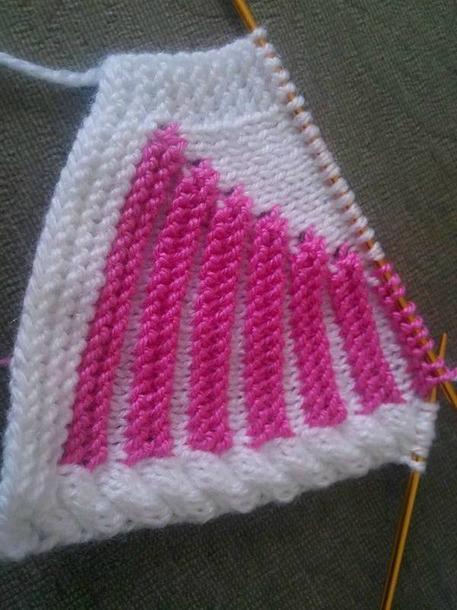 儿童毛衣领肩的弧形编织 - maomao - 我随心动