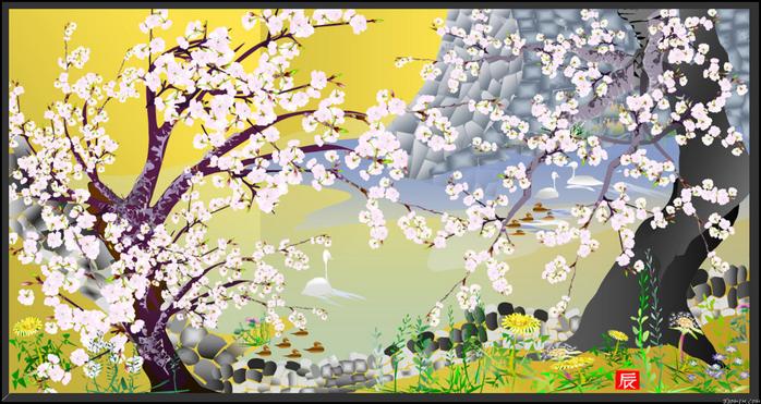 картины Тацуо Хориучи 2 (700x371, 443Kb)