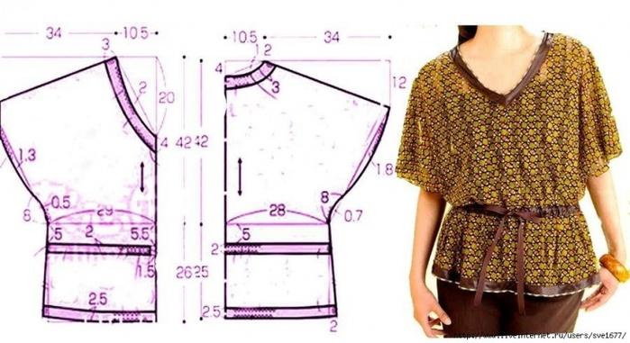 Выкойку летней блузки