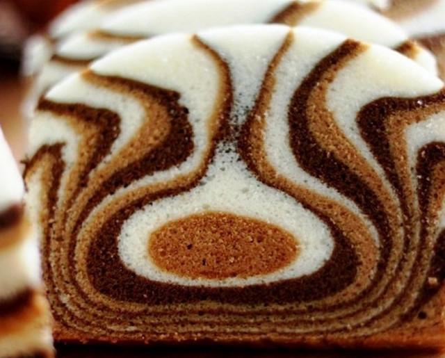 Торт зебра на кефире
