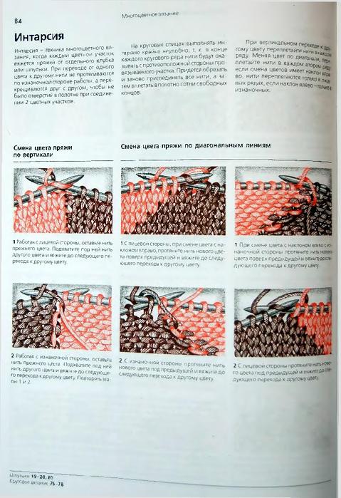 Интарсия вязание модели схемы 15