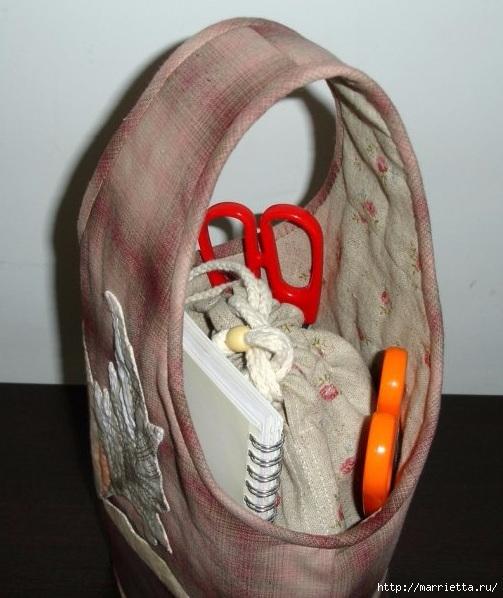 Шьем сами сумочку - корзинку для рукоделия. Выкройка (5) (503x598, 184Kb)