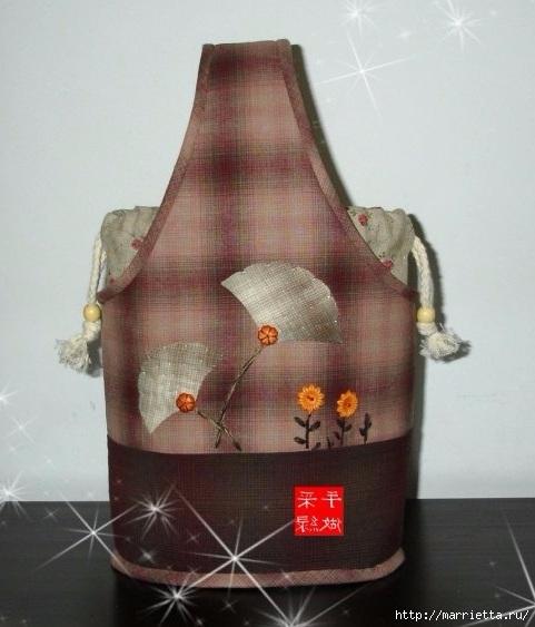 Шьем сами сумочку - корзинку для рукоделия. Выкройка (13) (481x563, 139Kb)