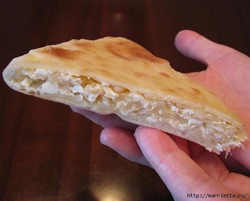 Кабускаджын - осетинский пирог с капустой и сыром (10) (500x401, 158Kb)