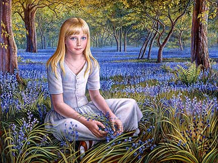 Girl_in_Bluebell_Wood (832x623, 44Kb)