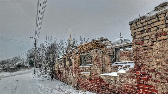 Торжок. Около Борисоглебского монастыря