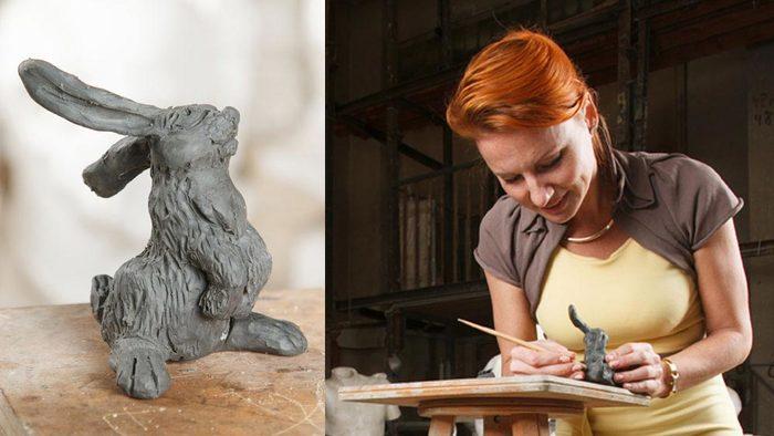 Скульптура из глины своими руками фото