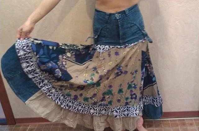 Как перешить юбку годе
